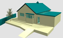 existing bungalow modelled in Allplan
