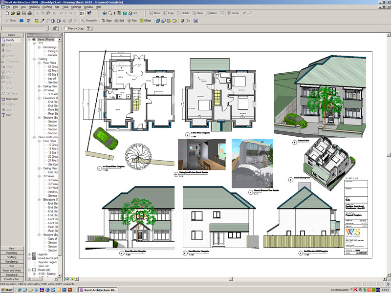 Lake district architect autodesk revit resources index page for House extension design software