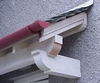 typical porch roof detail