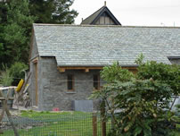 new outbuilding in garden of house near Hawkshead
